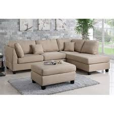 claire leather reversible sectional and ottoman small sectional sofas you ll love wayfair