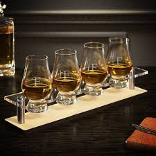 personalized serving tray serving tray with engraved glencairn glasses 5 pc