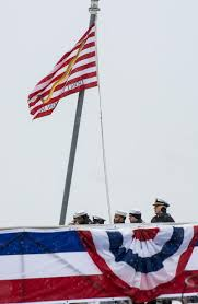 First Navy Jack Flag Welcome To The Fleet New Uss Little Rock Commissioned Into
