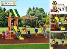 Kids Backyard Play Set by Backyard Discovery Prestige All Cedar Wood Playset Swing Set Ebay