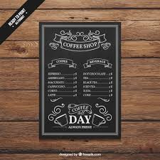 coffee shop menu template coffee shop menu vector free