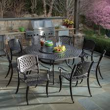 alfresco home westbury dining set with lazy susan seats 8