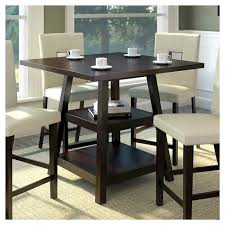 36 counter height table bistro 36 counter height dining table with shelves wood cappuccino