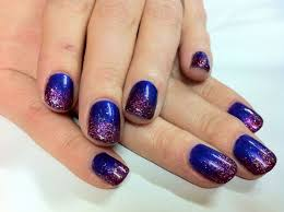 luminousnailshotpinksilverblacknails nails purple glitter and