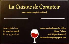 comptoir de la cuisine la cuisine de comptoir home poitiers menu prices