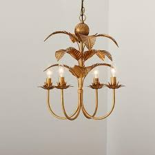 Tropical Chandelier Lighting Palm Four Light Chandelier