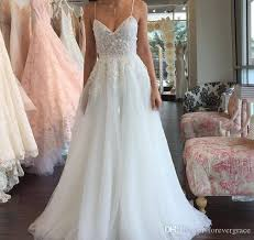 wedding dresses 2011 summer discount 2018 bohemian summer white wedding dress a line spaghetti