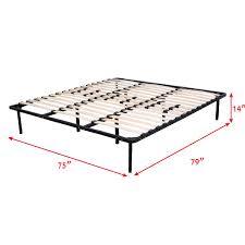 King Mattress Foundation Costway Wood Slats Metal Bed Frame Platform Bedroom Mattress