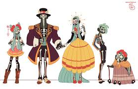 character design day of the dead family by meomai on deviantart