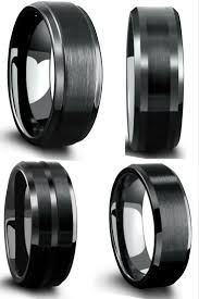 black wedding band jewelry rings 35 fascinating black wedding rings image concept