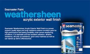 seamaster paint weathersheen acrylic exterior wall finish