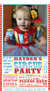 custom circus invitations 97 best circus theme party images on pinterest birthday party
