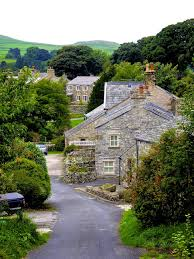 the beautiful streets in settle north yorkshire england