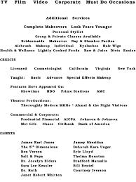 makeup artist classes online free make up a resume makeup artist template sles 7 sle cv 11 mac