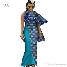 2017 african dresses for women new design dashiki women o neck