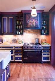 Purple Kitchen Design Kitchen Idea Of The Day Wow Purple Cabinets With Photo Printed