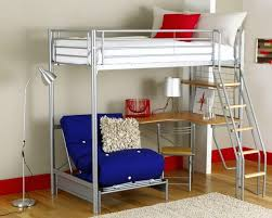 Loft Beds With Futon And Desk Bedroom Fancy Full Loft Bed With Desk For Teens Image Of In