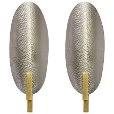 Wall Lighting Sconces Hammered Metal And Brass Sconces For Sale At 1stdibs