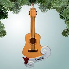 hobbies music christmas ornaments classic guitar personalized free