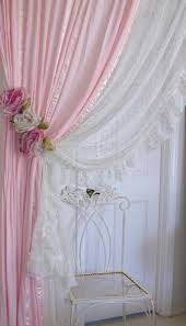 Shabby Chic Voile Curtains by Curtains Pink Lace Curtains Charming Luxury Curtains