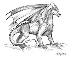 easy drawings and sketches dragon drawing art u0026 skethes