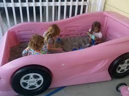 little girls toddler beds repurposed a little tikes twin bed into a racecar sandbox for the