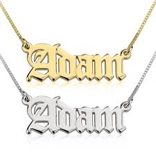 name necklace name necklace