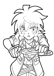 hikaru beyblade anime coloring pages for kids printable free