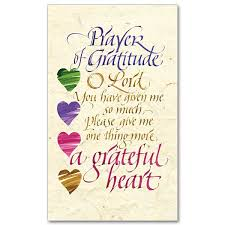 prayer of gratitude prayer card