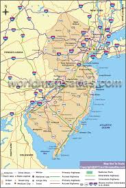 Road Map Usa Road Map Of New Jersey New Jersey Road Map