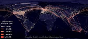 Airline Route Maps by Popular Airline Passenger Routes