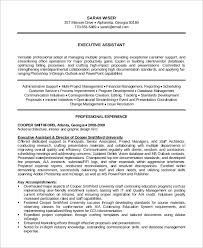 Operations Assistant Resume Sample Executive Assistant Resume 8 Examples In Word Pdf