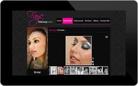 bridal makeup artist websites website design portfolio professional graphic and website