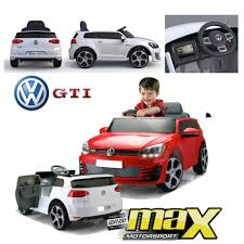 toddler motorized car kids battery operated vw golf 7 gti ride on car