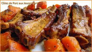 cuisiner travers de porc recette de travers de porc aux jeunes carrottes
