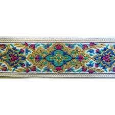 ribbon trim russian metallic jacquard ribbon trim pink blue purple 1 inch