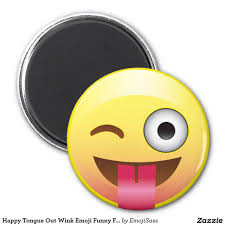 kitchen emoji happy tongue out wink emoji funny face magnet emoji face and