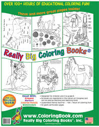 coloring books horses really big giant coloring book