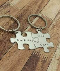 his calm couples keychains special holidays puzzle