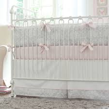 Gray And Pink Crib Bedding A Baby S Nursery In Pink And Gray Traditional