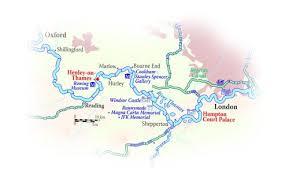 thames river map europe magna carta hotel barge river thames england 2017 season