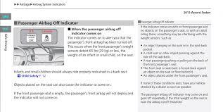 2004 honda accord airbag 2013 accord exl v6 passanger air bag light honda accord forum