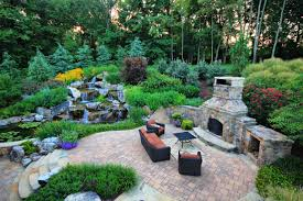 Small Garden Waterfall Ideas Exterior Design Cozy Traditional Landscape With Backyard