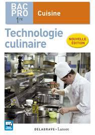 techno cuisine cours technologie culinaire 1re bac pro cuisine 2017 pochette élève