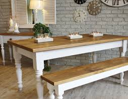 kitchen chunky dining table minimalist solid wood oak dining