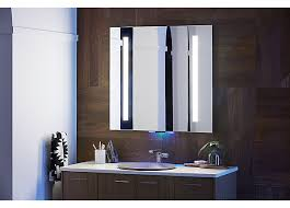 kohler bathroom mirror cabinet verdera voice lighted mirror with amazon alexa 2018 ces press