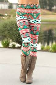pattern leggings pinterest navajo aztec print leggings coral want pinterest