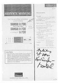sansui a 770 service manual immediate download