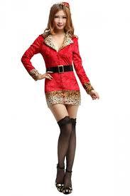Leopard Halloween Costume 52 96 Leopard Fur Print Red Santa Clause Costume Christmas