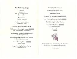 Wedding Program Outline Template Traditional Program Wording Civil Wedding Vows Exampridal Krtsy